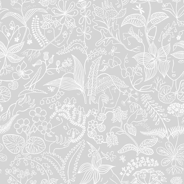 Scandinavian Designers 2745 Grey Wallpaper Scandinavian Wallpaper Floral Wallpaper