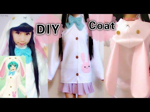 7b86039fab DIY Easy Coat Jacket from Scratch Cosplay Bunny Costume Hatsune Miku Rabbit…