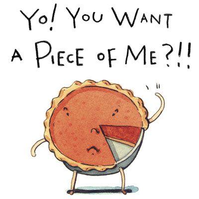 Illustrator Rick Peterson Illustration Cute Funny Pie Dessert