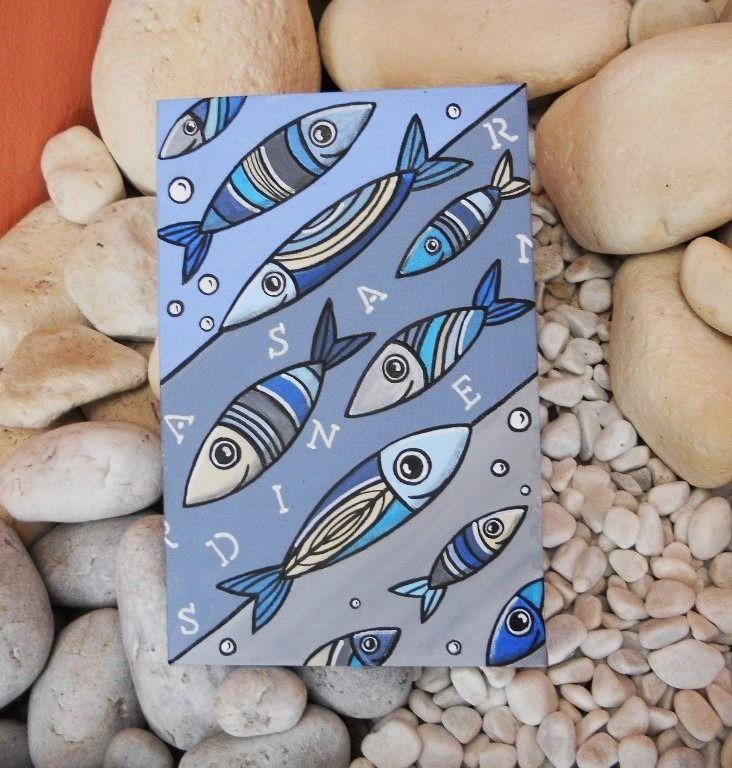 tableau de bord de mer les petites sardines poisson en. Black Bedroom Furniture Sets. Home Design Ideas