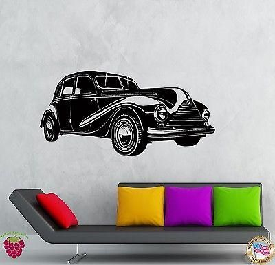 Wall stickers vinyl decal old retro car auto decor for living room unique gift z2131