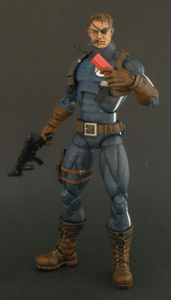 Nick Fury (Classic) (Marvel Legends) Custom Action Figure by Shinobitron by Shinobitron  Base figure: Captain America