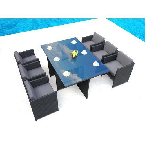 LOUNGE Salon de jardin encastrable en résine 6 places | 1 terrasse ...