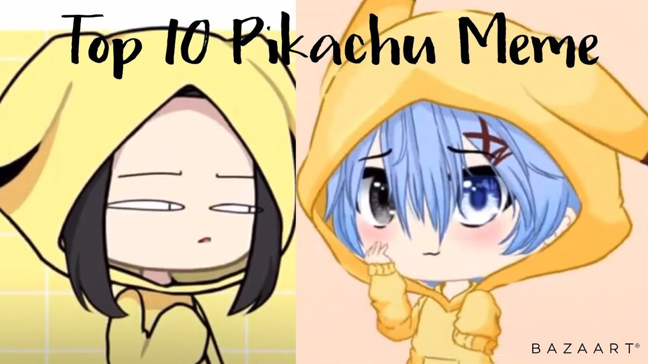 Top 10 Pikachu Meme Gachalife Itz Lemuelle Studios Memes Pikachu Sub Count