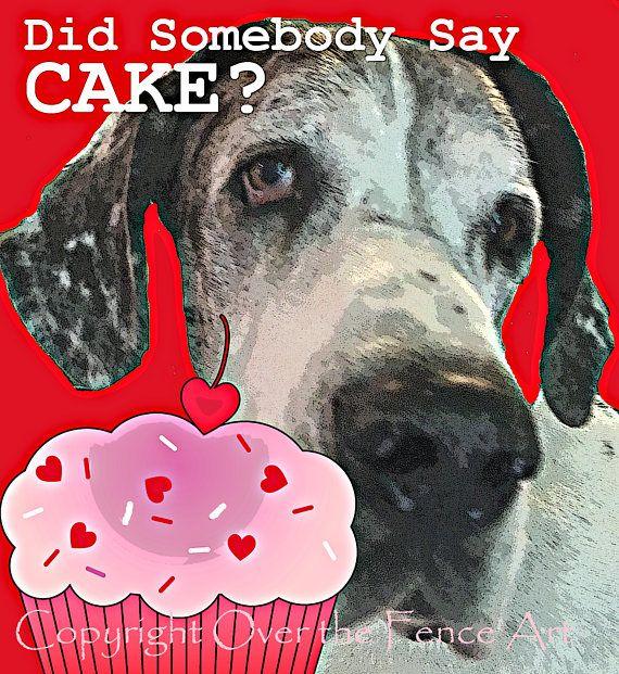 Dog Birthday Card Great Dane Card Birthday Card Dog Art Best Of