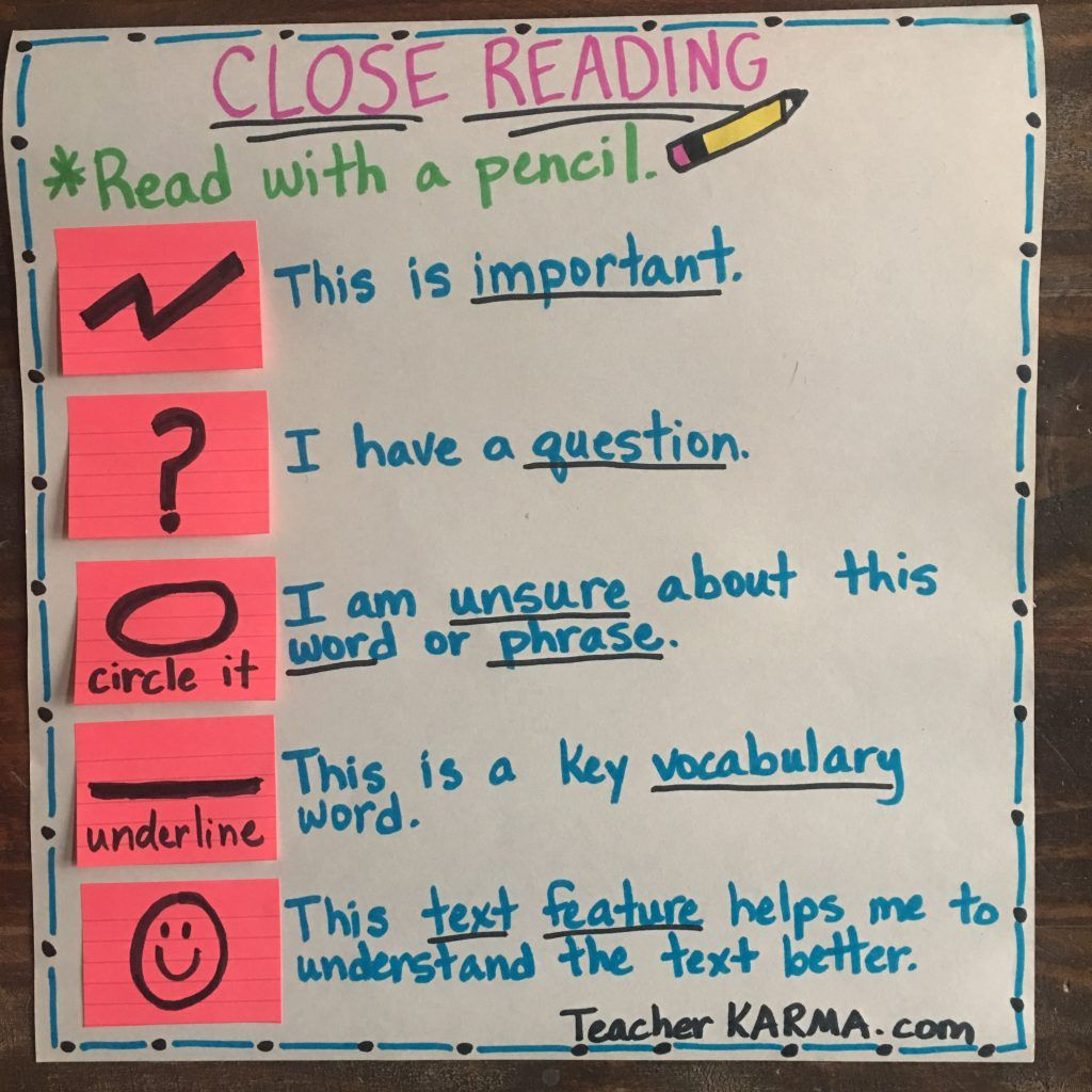 Close Reading How To Read With A Pencil Strategy Teacher Karma Close Reading Reading Comprehension Activities Close Reading Strategies