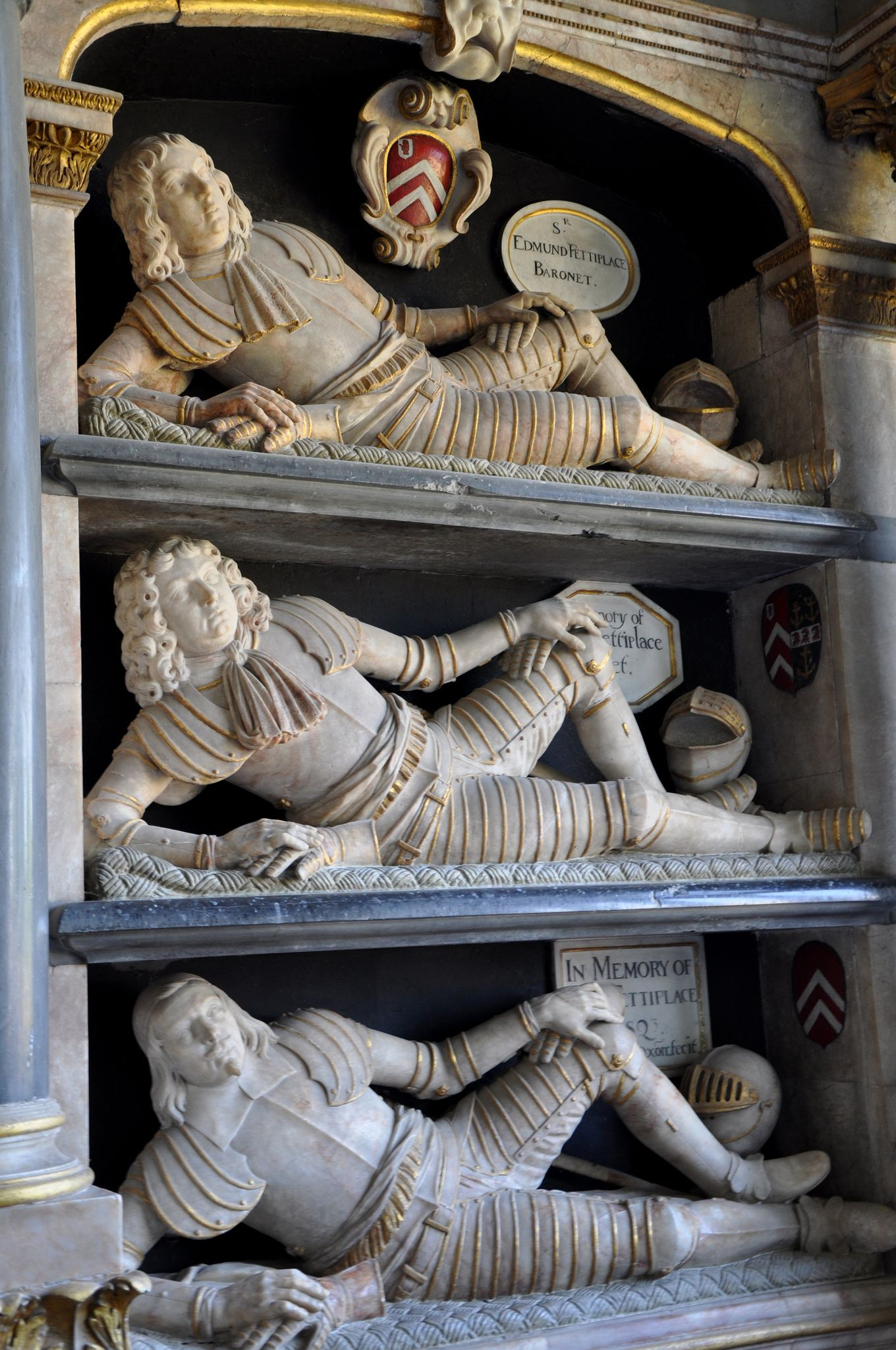 https://flic.kr/p/cHxeQq | Swinbrook-067 North wall of chancel two monuments of Fettiplace family http://www.bwthornton.co.uk/visiting-stratford-upon-avon.php