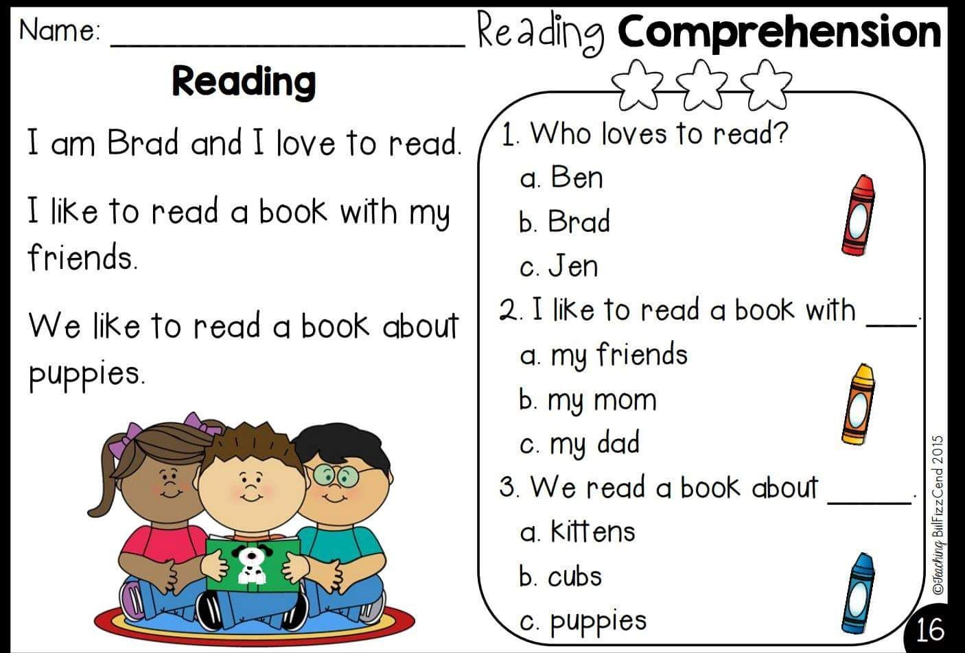 Pin By Rabab Fakih On English For Kids Reading Comprehension Reading Comprehension Passages Grammar For Kids [ 952 x 1406 Pixel ]