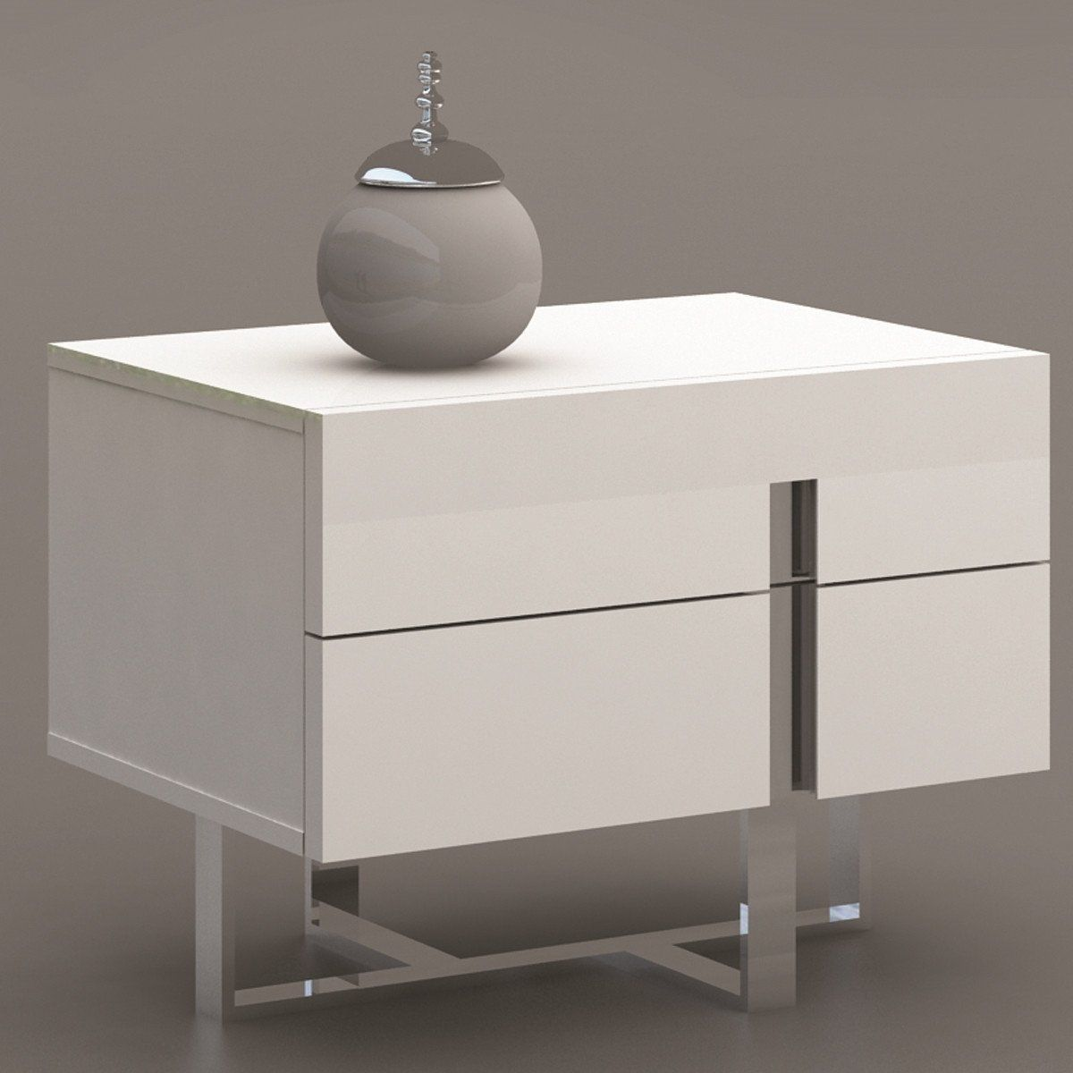 Casabianca Collins High Gloss White Lacquer Nightstand End Table Cb 1302 N This High Gloss White Lacquer Nigh High Gloss White Lacquer Furniture Nightstand