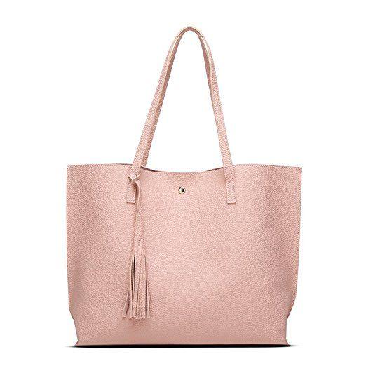 94836a3729f63 Handtaschen Henkeltasche Damen Groß Shopper Leder Elegant Schwarz Blau Rosa  Umhänge Shopper Tasche Groß Stylisch für