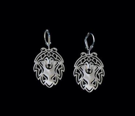 Shetland Sheepdog Outline Drop Earrings