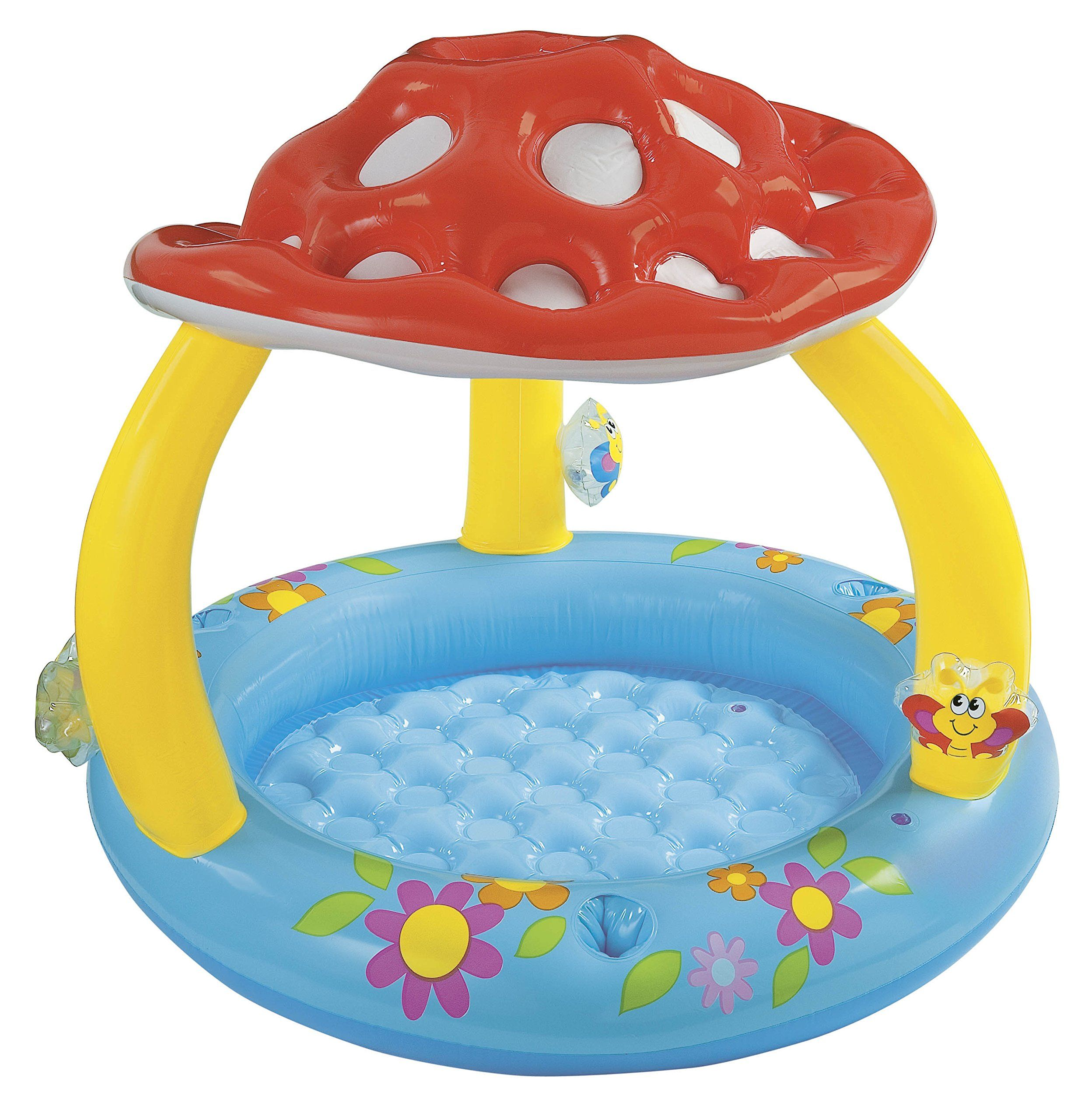 Intex Mushroom Inflatable Baby Pool 40 X 35 For Ages 1 3 A Soft Floor Allows For Gentle Play Baby S Own Pool