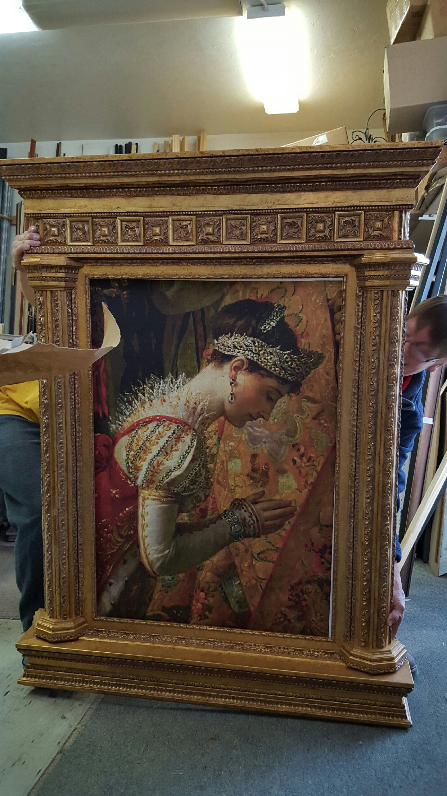 Auction company 751 walnut victorian marble top parlor table ca 1870 - Francine S Masterpiece Tabernacle Frame For Wcaf
