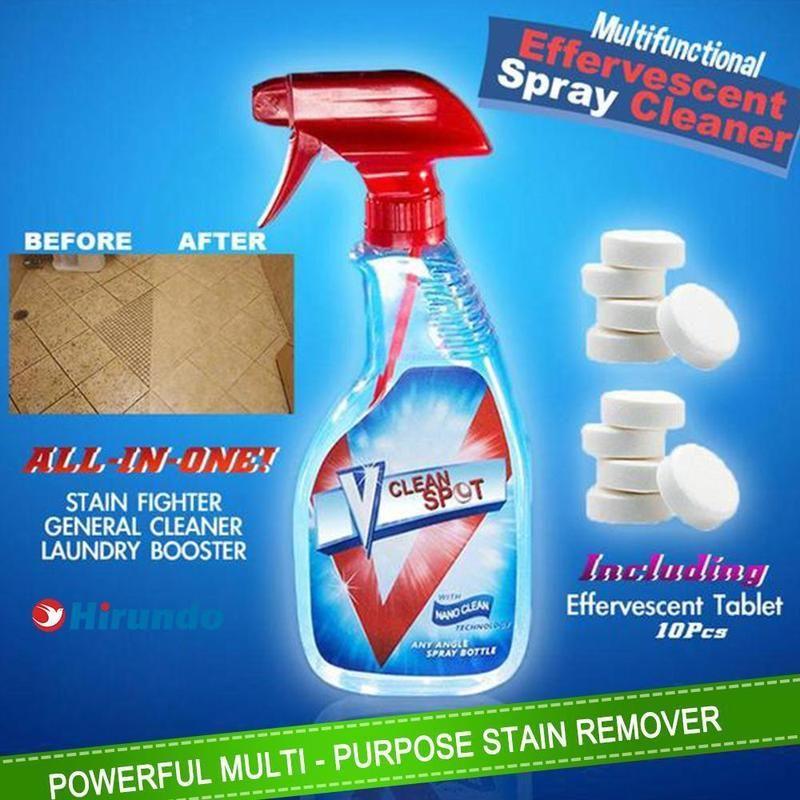 Hirundo Multifunctional Effervescent Spray Cleaner 1 Set Cleaning Hacks Cleaning Toilet Cleaning