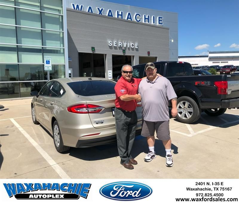 Congratulations Mike from Johnie Thomas at Waxahachie Ford
