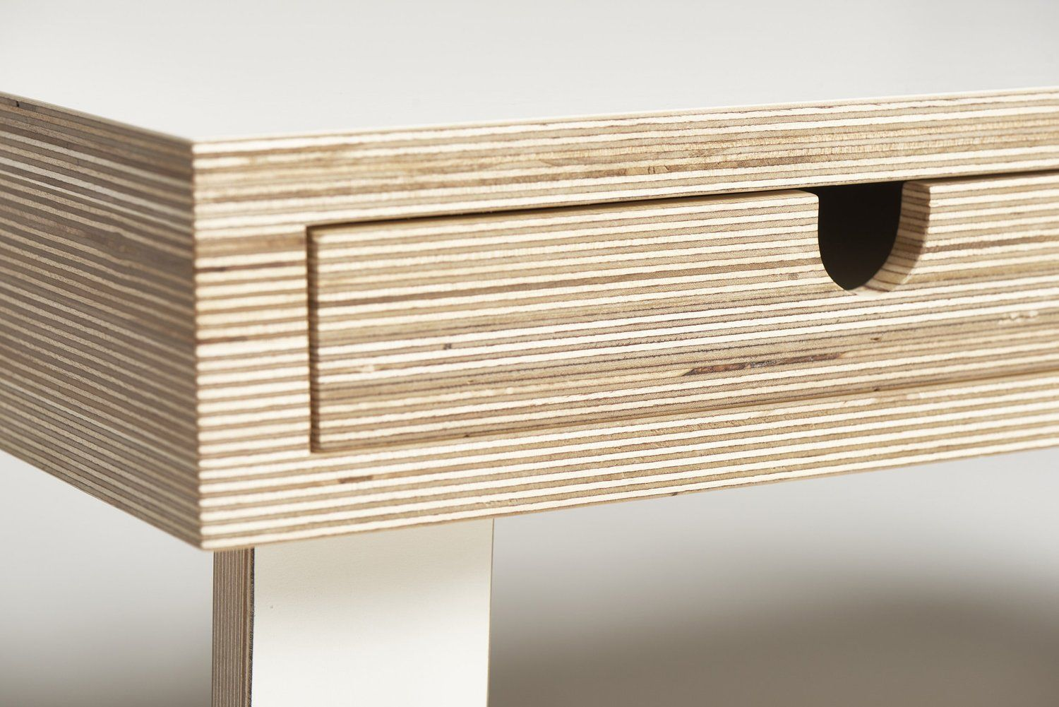Close Up Of Plywood Coffee Table In White Laminate By Lozi Plywood Coffee Table Plywood Table Coffee Table Design [ 1001 x 1500 Pixel ]