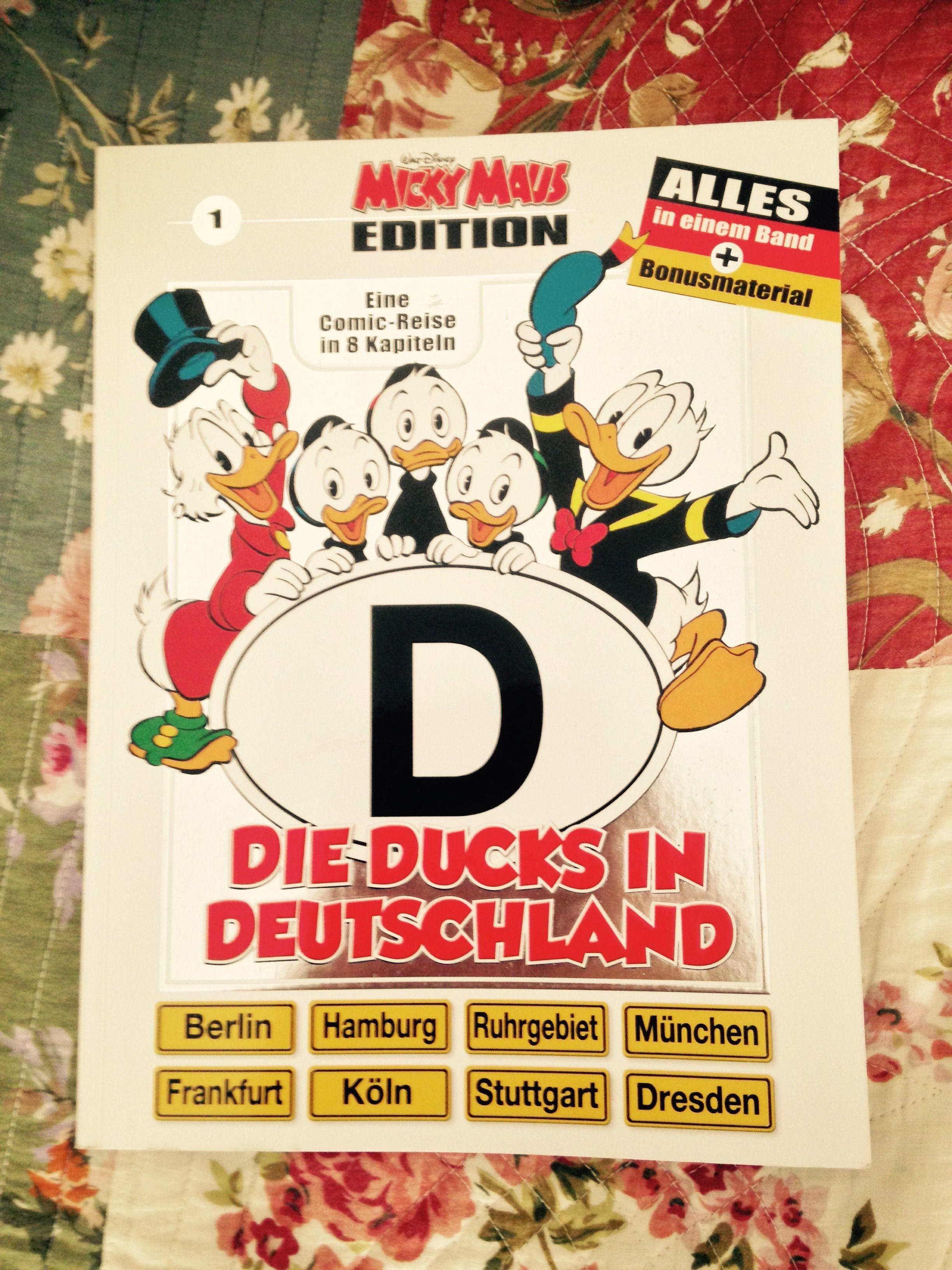 Micky Maus Edition, Die Ducks in Deutschland. In meinem Bücherregal. #mickymaus