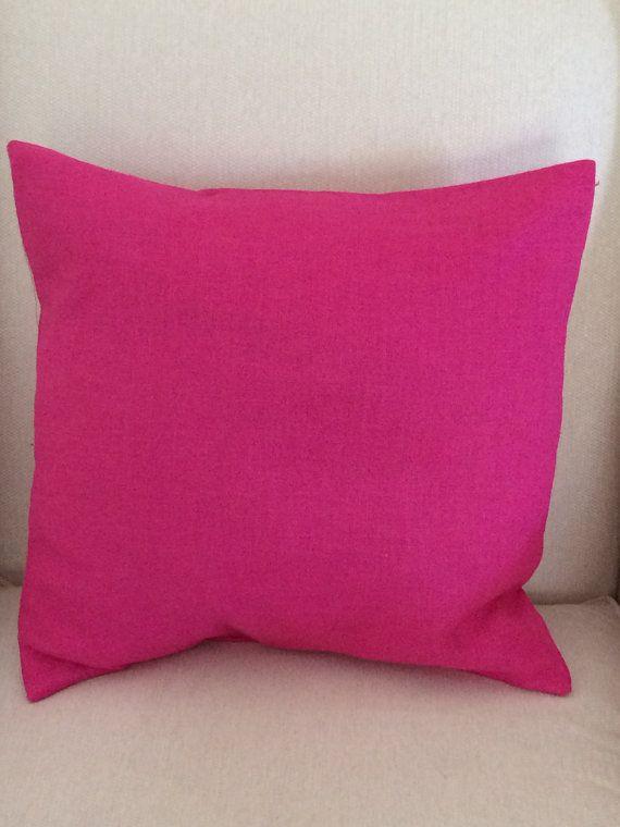 Fuchsia Linen Pillow Cover Decorative Throw Pillow Cover Cushion Stunning Decorative Pillow Slipcovers