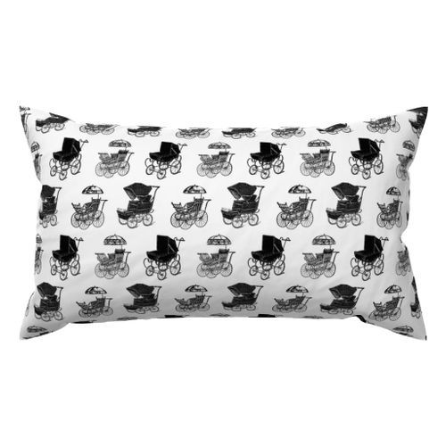 Antique Baby Carriages Lubmar Throw Pillow @ Spoonflower #spoonflower #fabric #pillow #pillows #throwpillows #throwpillow #pillows #pillow