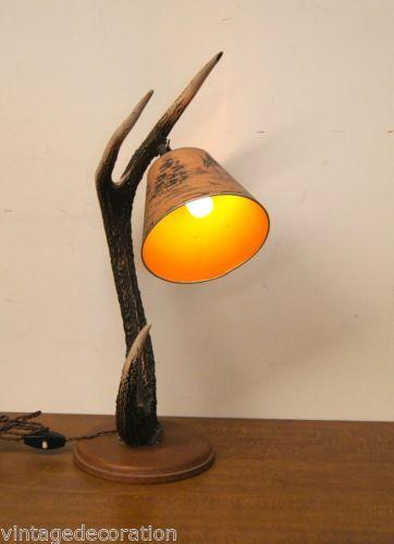 Vintage-lamp-op-hertengewei-Vintage-lamp-on-deer-antler-lampe-bois-de-cerf 1414558d8b35