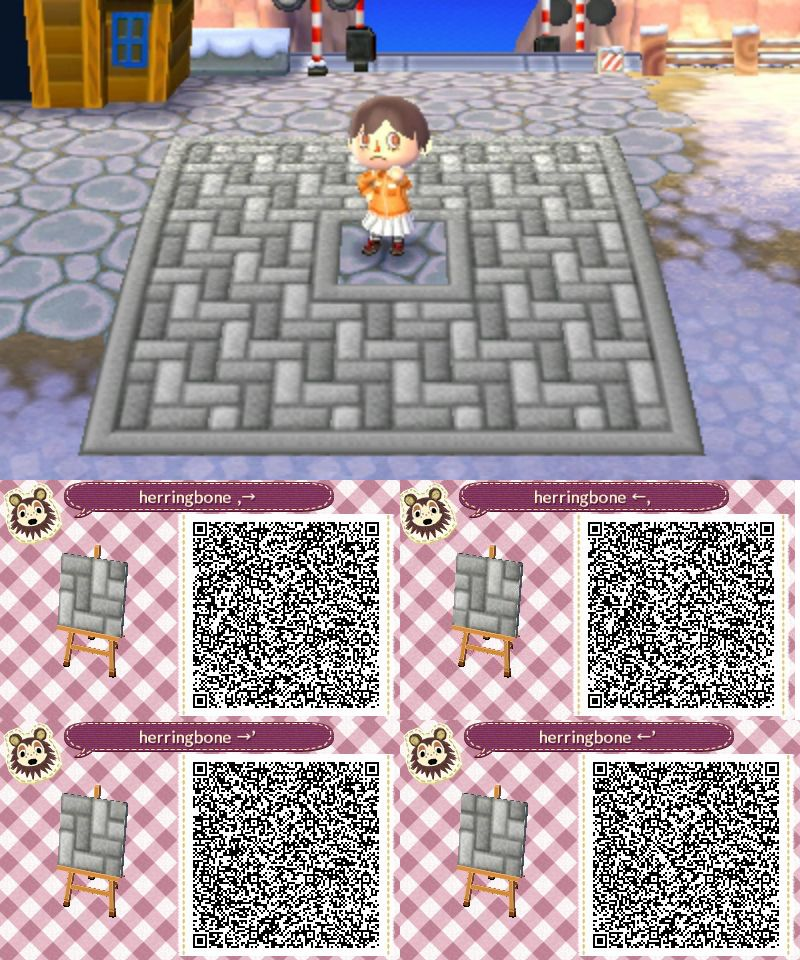 Animal Crossing New Leaf Hhd Qr Code Paths Animcrosso Grey