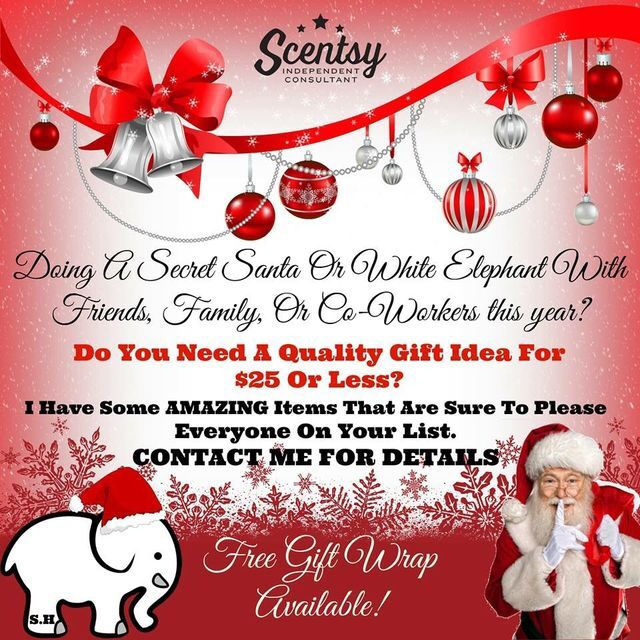 Looking for a secret santa gift? I got you covered! alexismata.scentsy.us