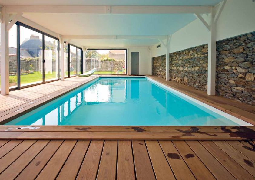 Piscine interieure construction piscine interieure pinterest piscines - Piscine interieure design ...