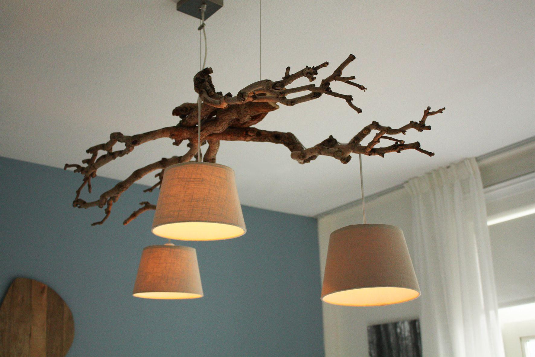 Populair Lamp gemaakt van boom takken. Gemakkelijk zelf te maken #VF32