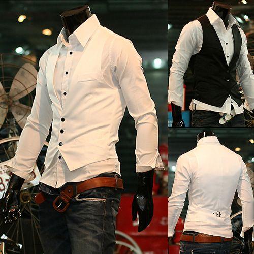 2016 hot New Men' Vest Jacket Male casual brief men's slim black white small vest single breasted slim vests free shipping XL