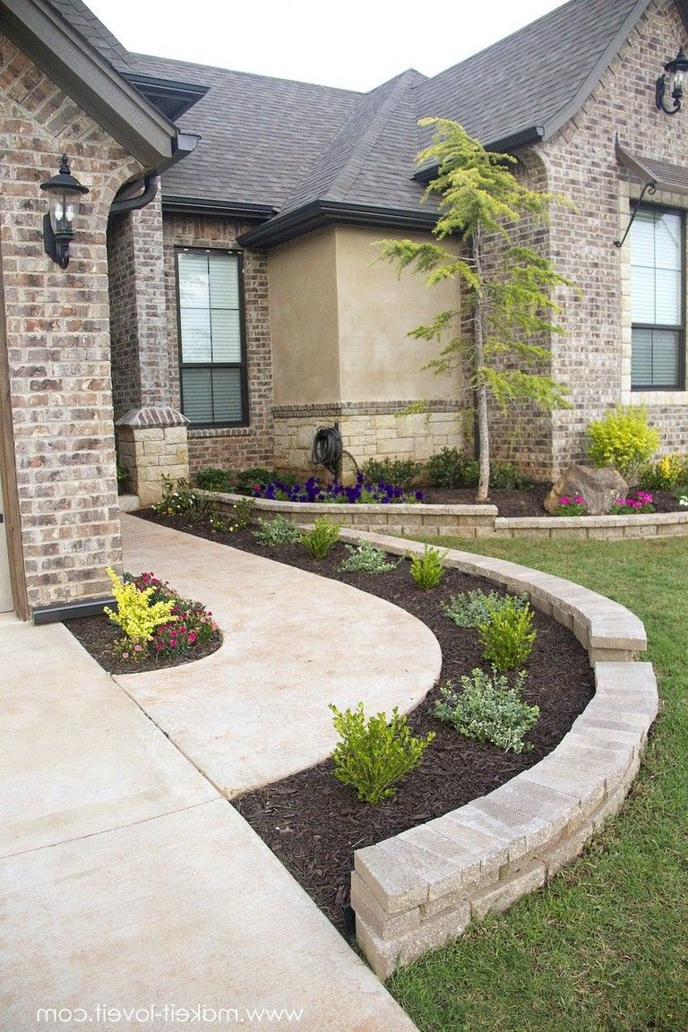 clean and beautiful front yard