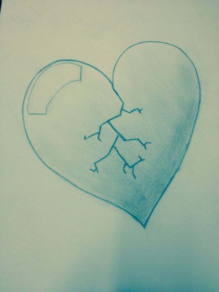 My Heart Isnt Broken But I Was Having Fun Sketching So Ya