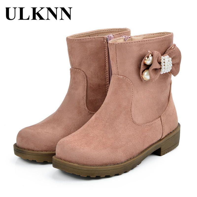 240e86b566 Encontrar Más Botas Información acerca de Ulknn invierno Botas Niñas  Zapatos niños Niñas Botas niños Zapatos
