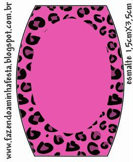 Oncinha Rosa - Kit Completo com molduras para convites, rótulos para guloseimas, lembrancinhas e imagens! - Fazendo a Nossa Festa