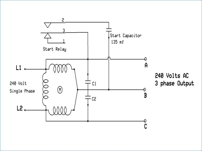 Wiring Diagram For A Single Phase Motor 230 V Szliachta