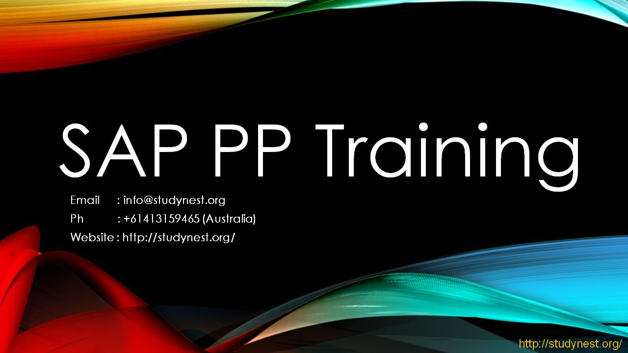 Sap Pp Training  Bill Of Material Video   Sap Production