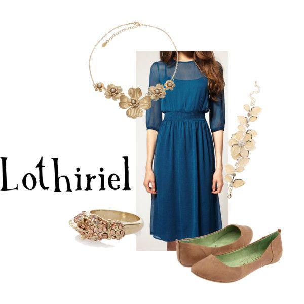"Photo of Ringenes Lord / The Hobbit – ""Lothiriel"" fra medfølgende klær på Polyvore"