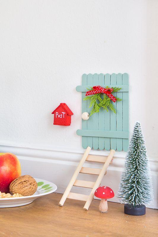 diy eine m rchenhafte wichtelt r basteln bastelideen basteln wichtel und weihnachten. Black Bedroom Furniture Sets. Home Design Ideas