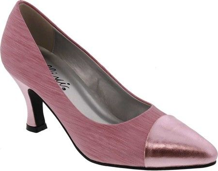 8e5b37d8f28 Women s Bellini Zesty Cap Toe Pump - Pink Laser Stripe with FREE Shipping    Exchanges. The Zesty Cap Toe Pump by Bellini is an unexpected