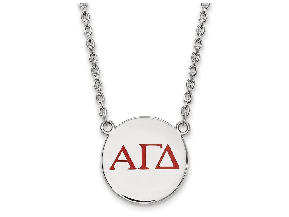 Logoart Sterling Silver Alpha Gamma Delta Small Enameled Pendant
