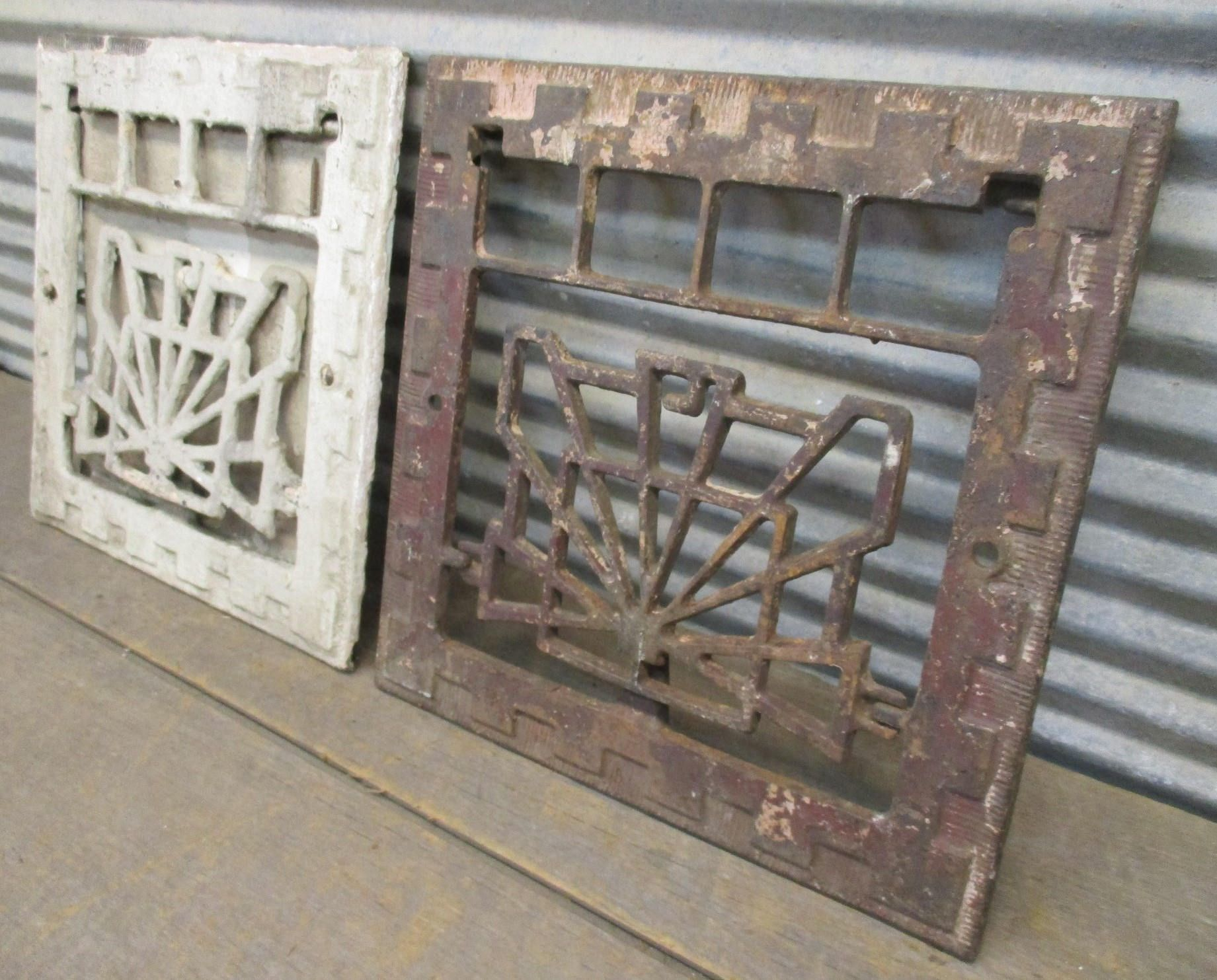 2 Metal Wall Grates Heat Vent Cover Register Cold Air
