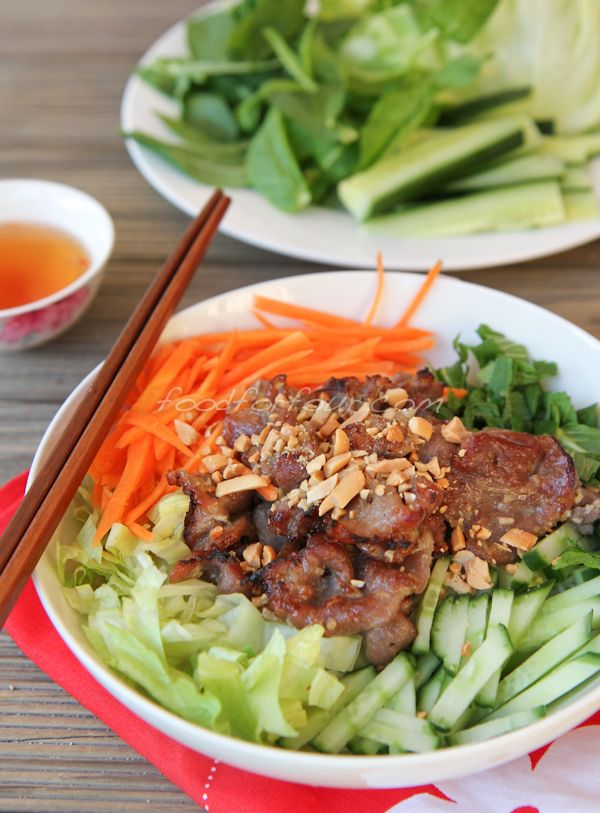 Bún Thịt Nướng – Vietnamese Grilled Pork with Vermicelli Noodles