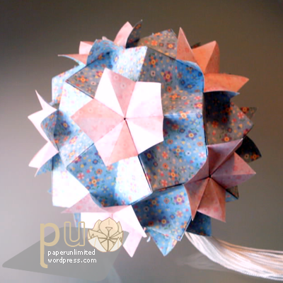 new floral kusudama, version 2