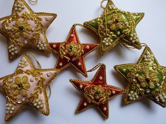 Vintage Christmas Decorations Indian Beaded Xmas Ornaments Etsy Vintage Christmas Decorations Victorian Christmas Decorations Victorian Christmas Ornaments