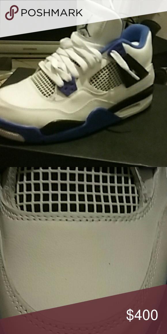 separation shoes fc456 440ae Jordan Retro 4s MotorSport Blue black whit and gray Jordan ...