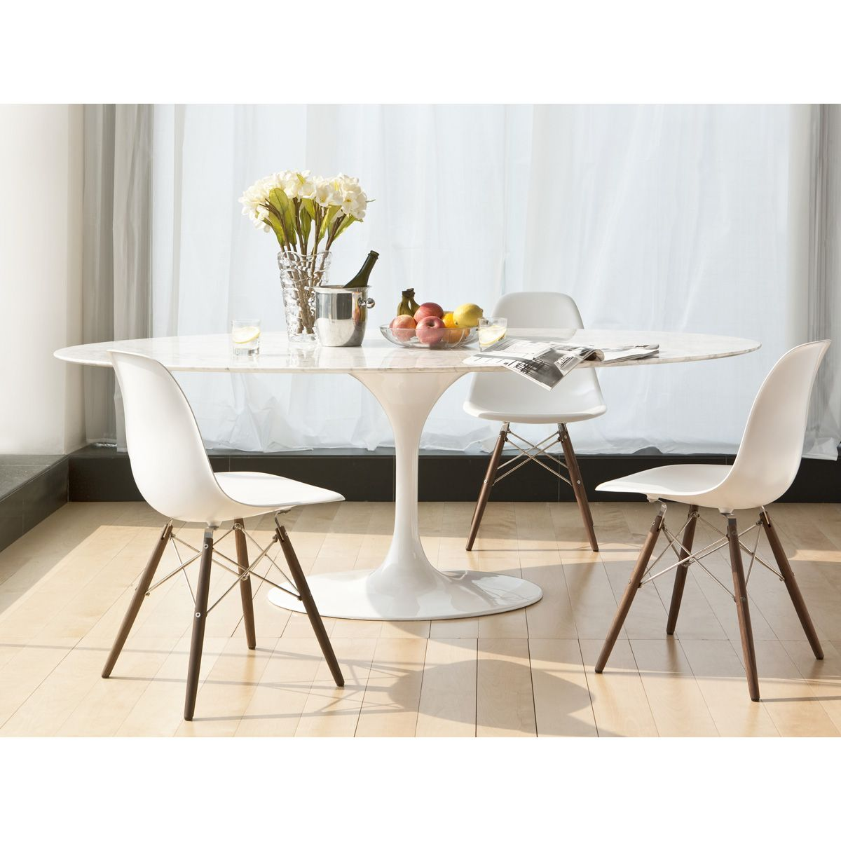 Saarinen Tulip Oval Marble Dining Table Dining Table Marble