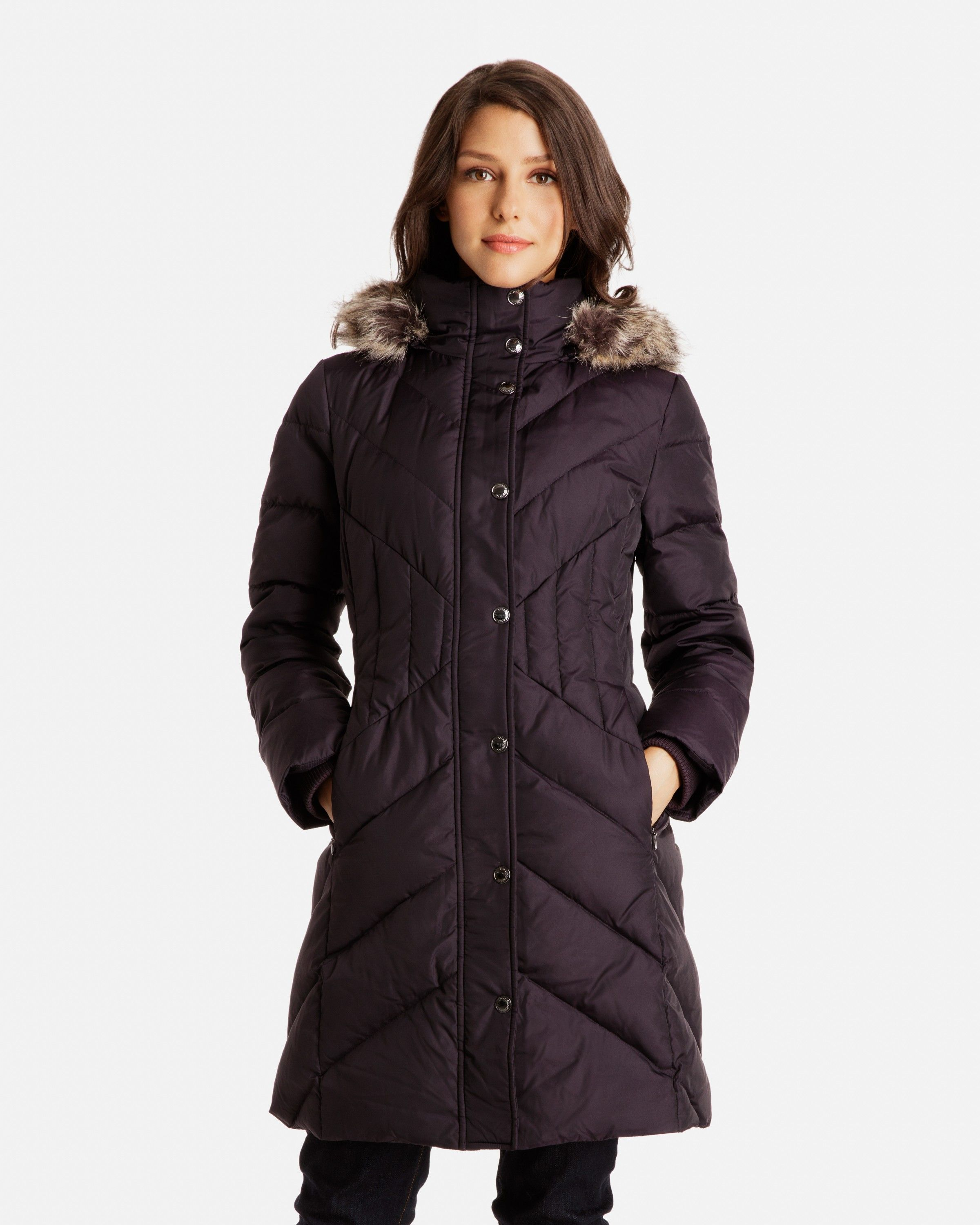 aa9e5bde1 Celine Chevron Quilted Down Coat for Women | London Fog -- This may ...