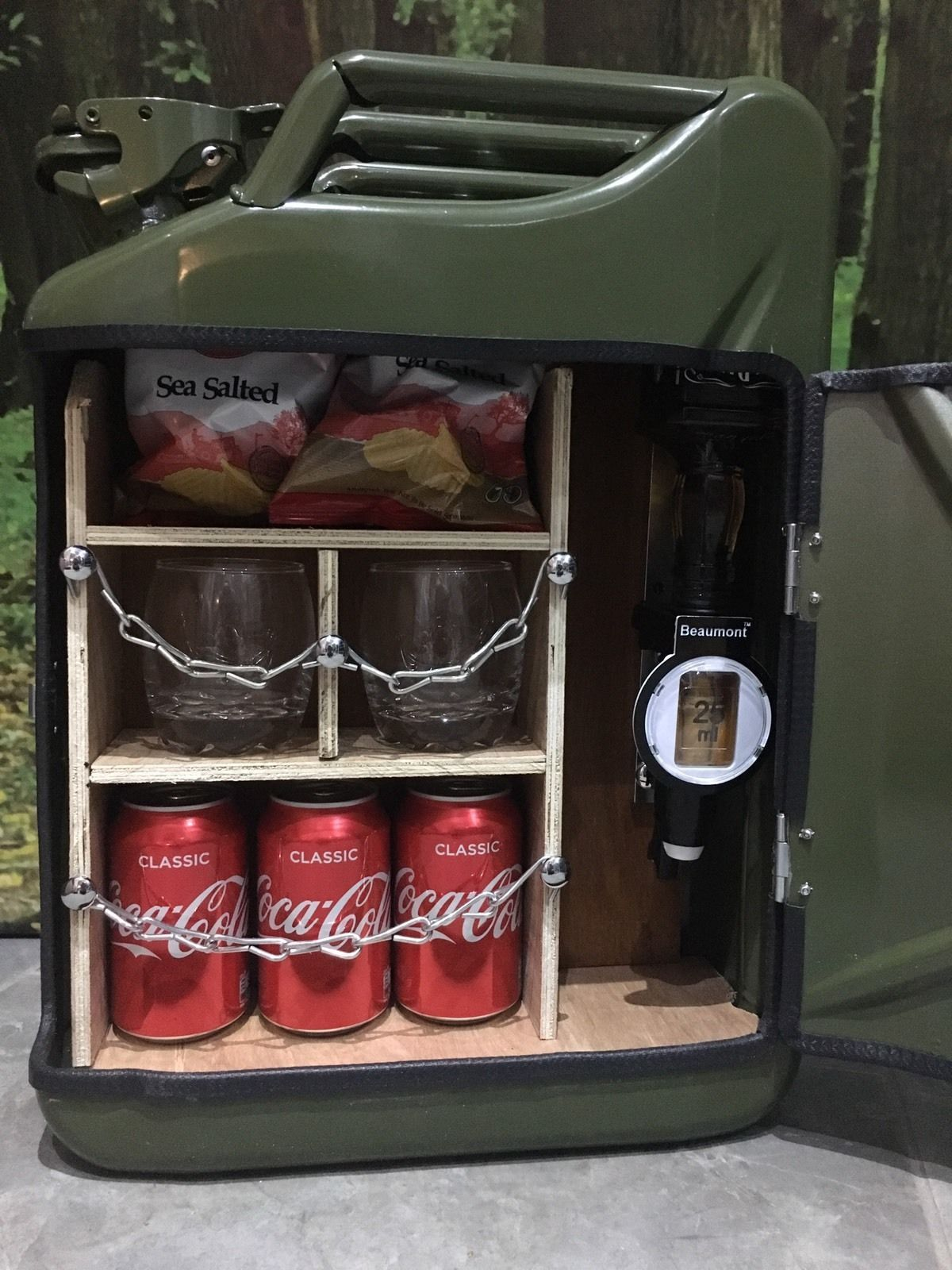 Our Hand Made Jerry Can Mini Bar Made From A