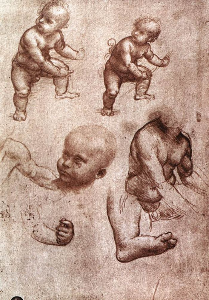 Study of a child by Leonardo da Vinci #art