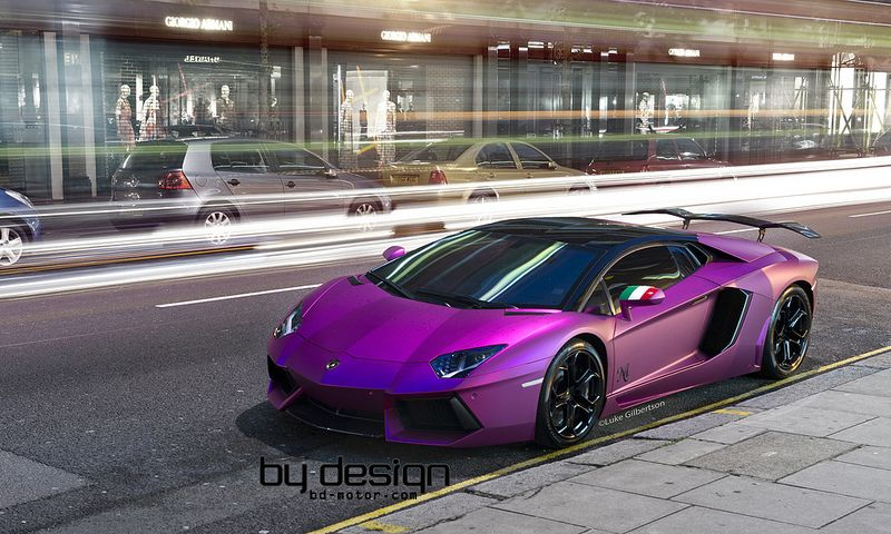 lamborghini matte purple lamborghini aventador - Lamborghini Aventador Chrome Purple