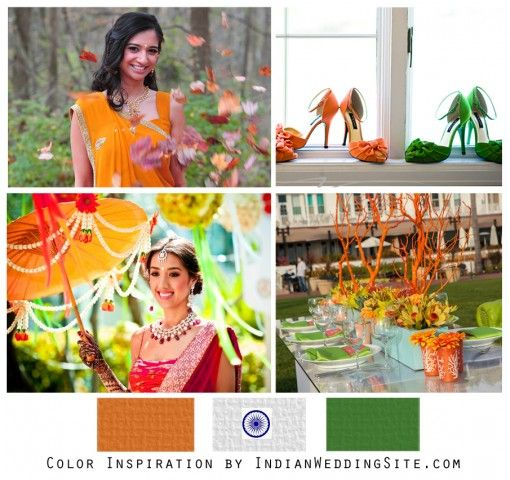Indian Independence Day Wedding Color Inspiration